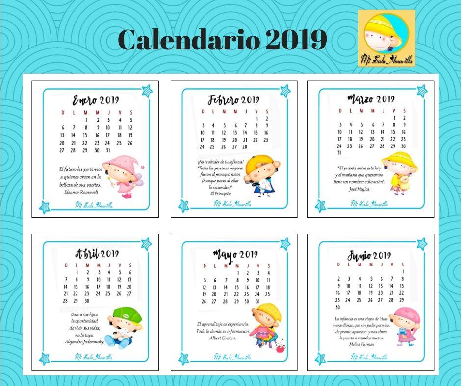 Calendario 2019 Para Imprimir En Tres Tamañoscontiene