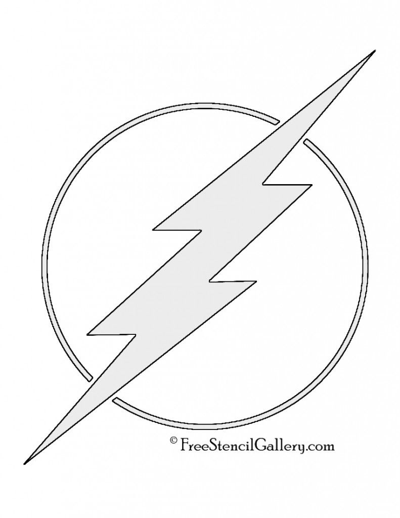 The Flash Symbol Stencil The Flash Flash Logo Stencils