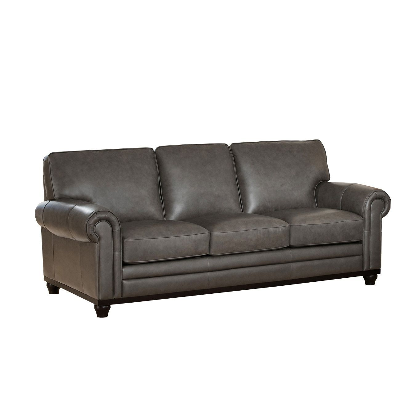 Stafford Top Grain Grey Leather Sofa Ping The Best Deals On Sofas Loveseats