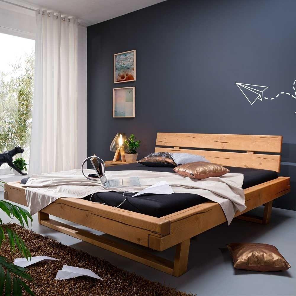 Kiefer Massivholzbett Mit Kufengestell Als Doppelbett Bis 200x200 Cm Nueva Echtholzbett Massivholzbett Bett 180x200