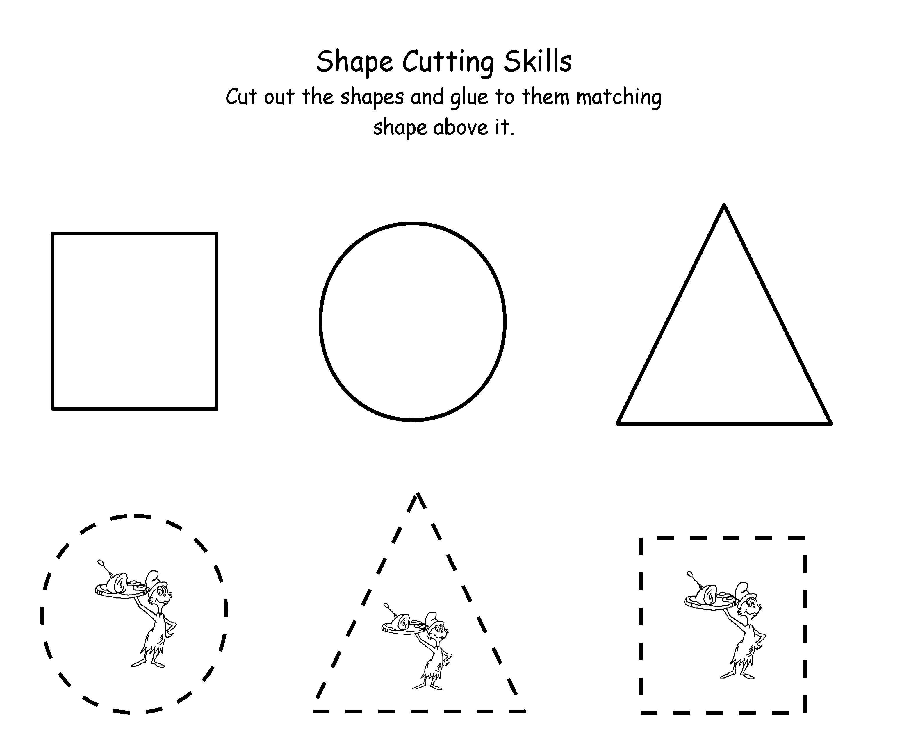 Worksheets Cutting Worksheets For Preschool printable dr seuss cutting maths pinterest scissor skills printablespreschool