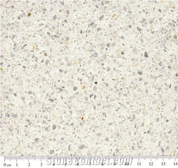 A300m, White Quartz Stone Tiles & Slabs, Terrazzo Stone