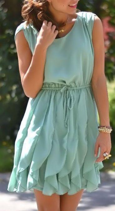 Mint Ruffle Dress ♥ L.O.V.E.