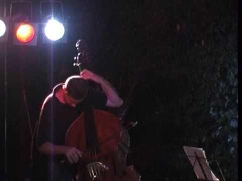 LTD Luca Fattori vocals, Tiziano Zanotti double bass Live concert @ La Morazza, Grizzana M., 25 July 2009