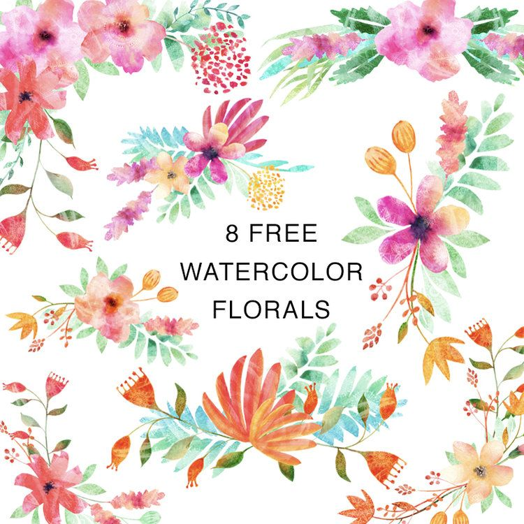 8 Free Watercolor Clip Art Arrangements Free Watercolor Flowers