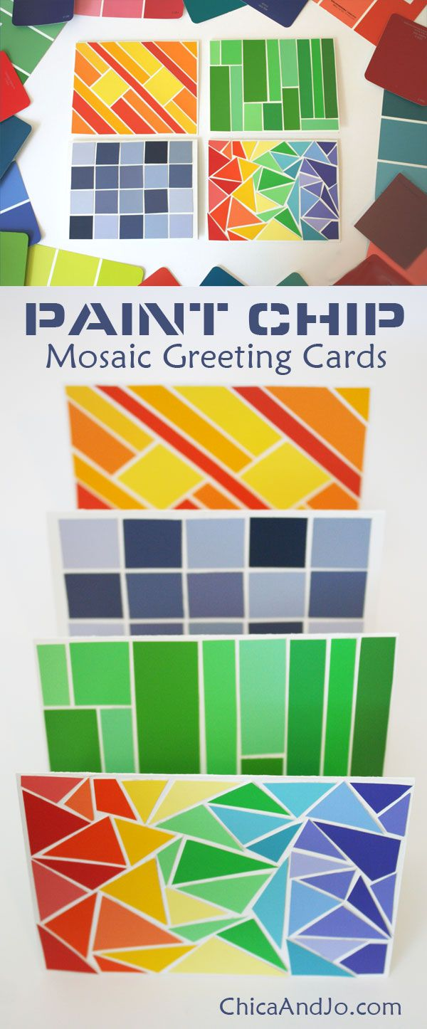 Recycle paint chips into greeting cards chica and jo gift ideas recycle paint chips into greeting cards chica and jo m4hsunfo