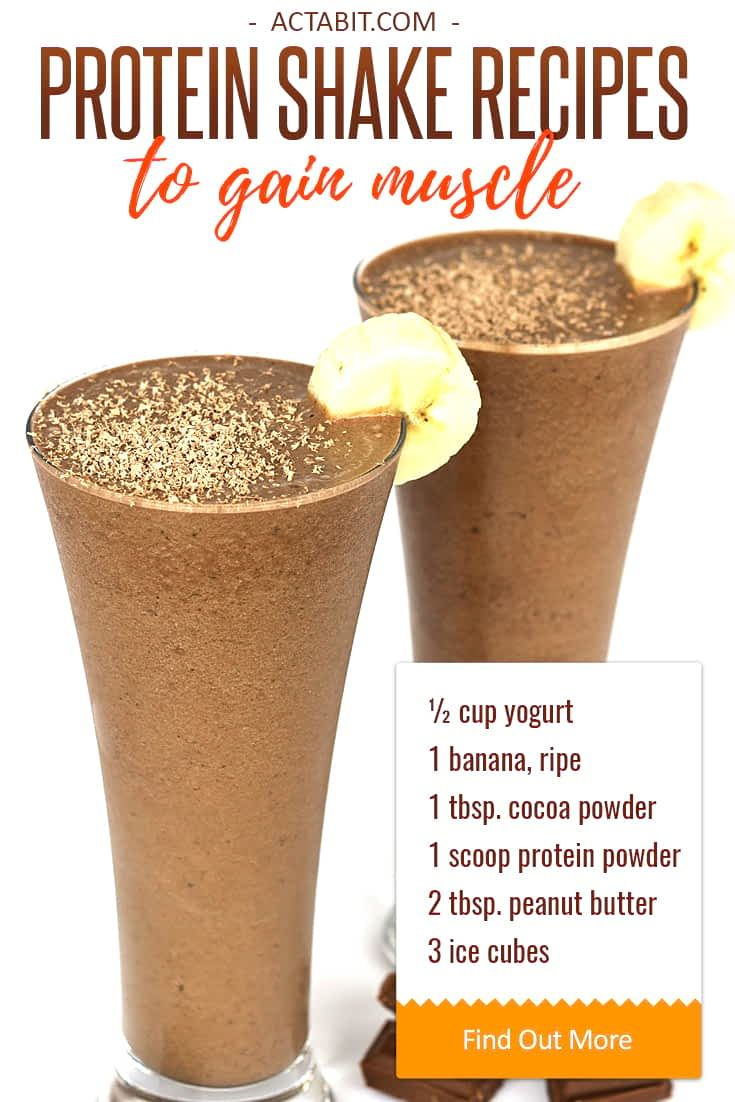 Healthy Protein Shake Recipes to Gain Muscle | Yummy foods ...