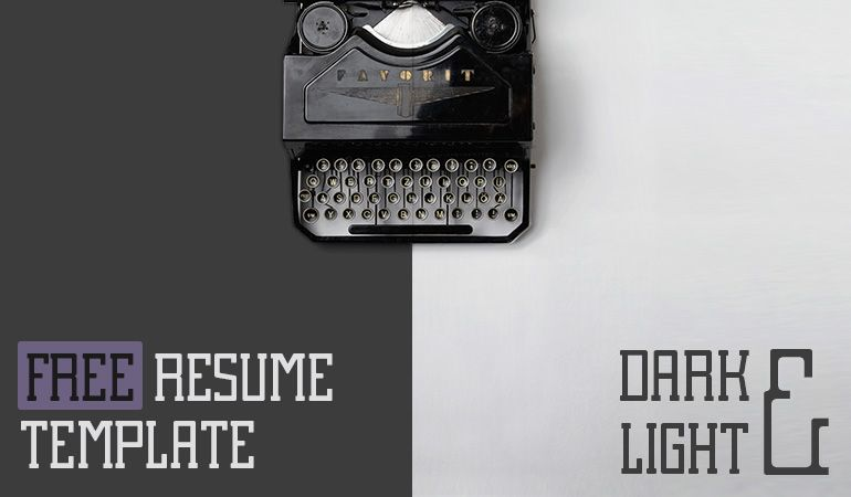 Slideist  Free Cv  Resume Powerpoint Template  Hoja De Vida
