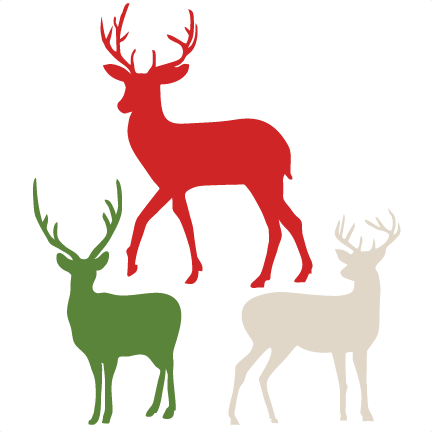 30+ Cute Reindeer With Hairbow Clipart