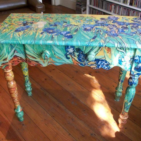 Funky Painted Furniture Decoupage, Van Gogh Furniture
