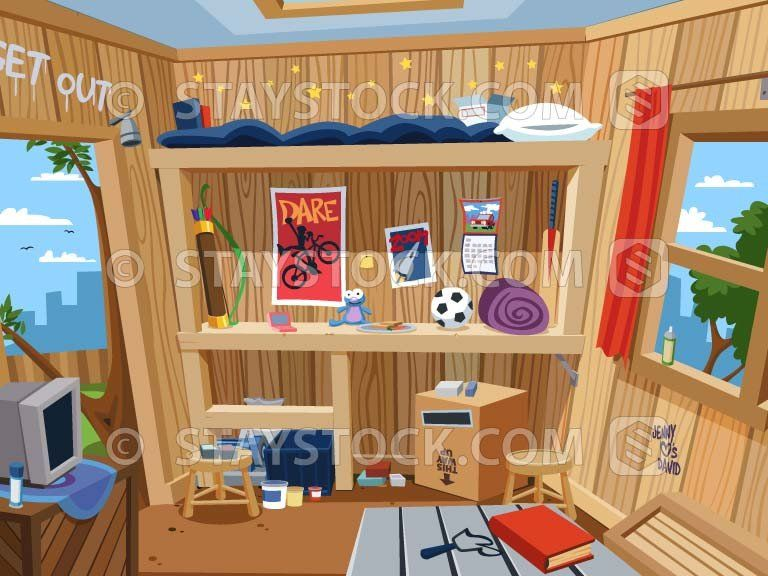 Inside Treehouse Tree House Color Textures Vector Art Illustration A wide variety of house inside cartoon options are available to you, such as material, use, and feature. inside treehouse tree house color