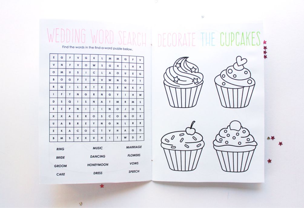 free printable wedding activity book for kids