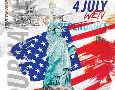Check out new work  - independence day flyer