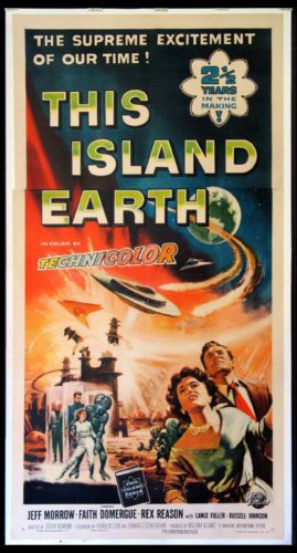 THIS-ISLAND-EARTH-REYNOLD-BROWN-ART-SCIENCE-FICTION-1955-3-SHEET