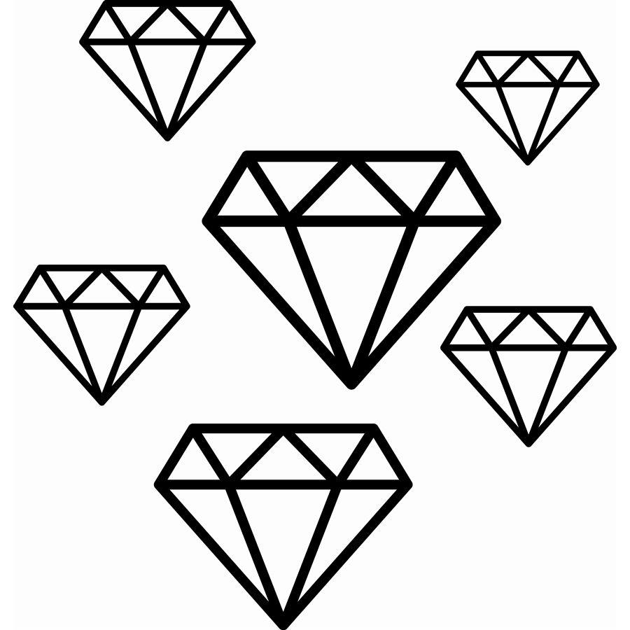 Sticker diamond decoupe silhouette pinterest cam o - Diamant dessin ...