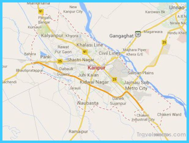 nice Map of Kanpur Travelsmaps Pinterest Nice map Road trips