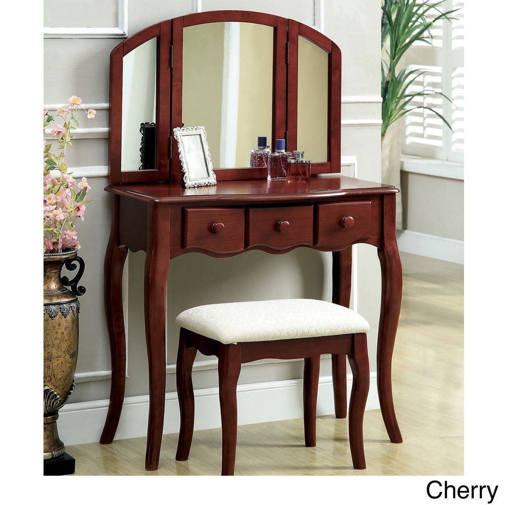 Furniture of america classic nasheline drawer vanity sided