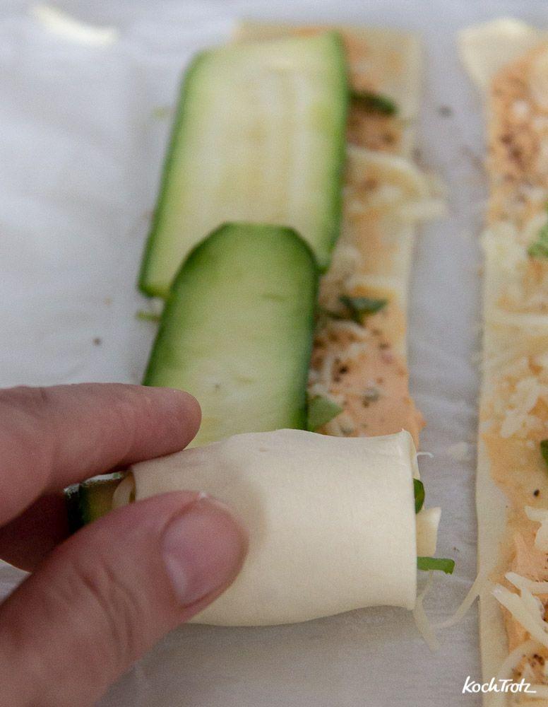 Zucchini-Rosen #apfelrosenblätterteig