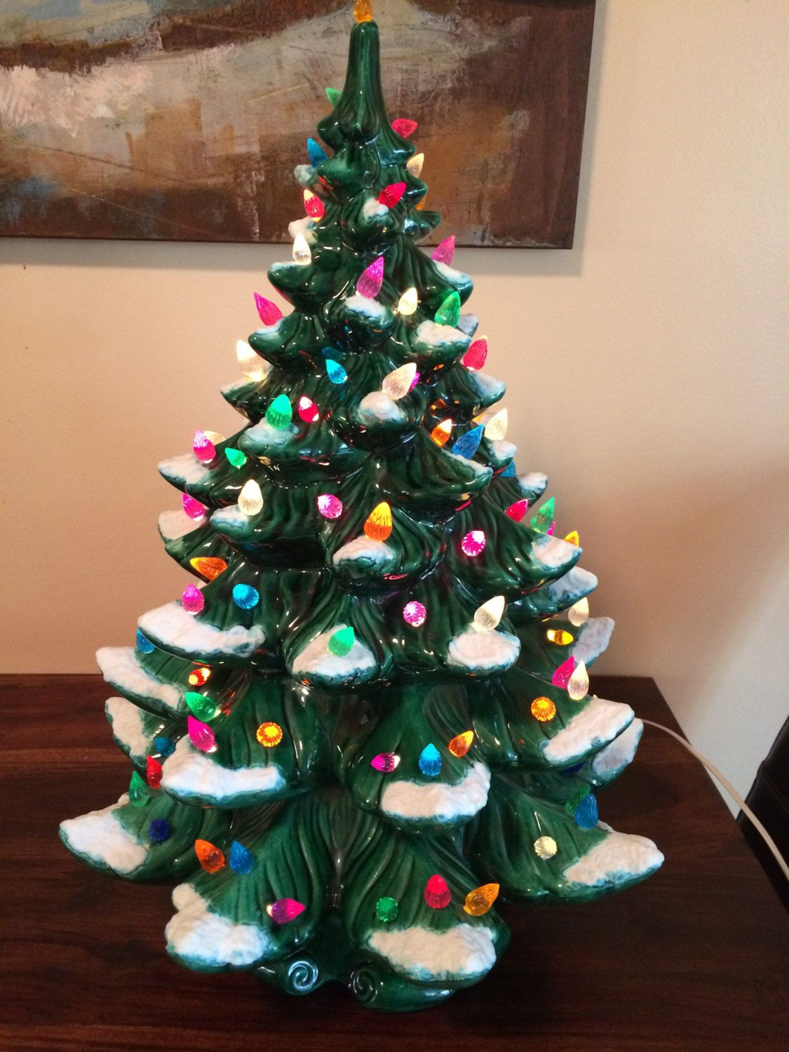 24 Quot Large Vintage Atlantic Mold Ceramic Christmas Tree