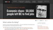 B.C. Liberals on public payroll in hot water over anti-Dix website