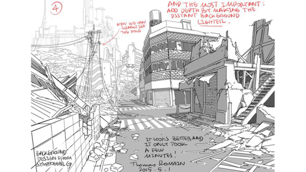Tips For Drawing Backgrounds Background Drawing Drawings Thomas Romain