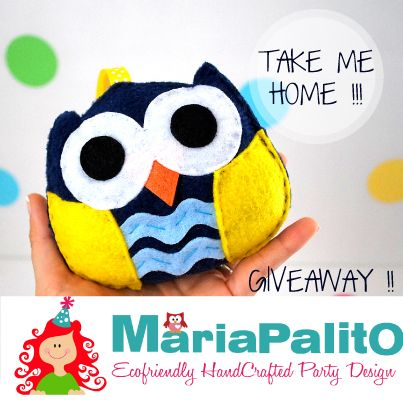 GIVEAWAY !!! Take this Felt owl plush toy home :) https://www.facebook.com/MariaPalitoDesign