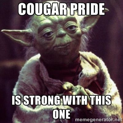 Cougar Pride is strong with this one. #GOCOUGS #WSU #starwars