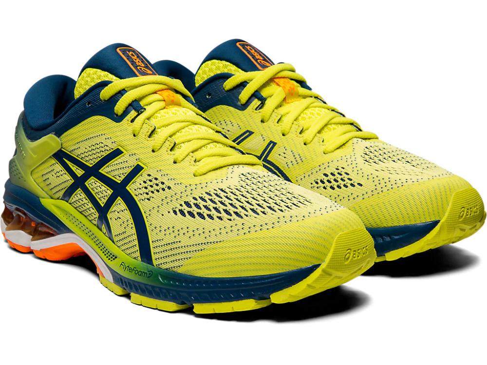 Alfombra Paquete o empaquetar Perversión  Men's GEL-KAYANO 26 KAI | Sour Yuzu/Mako Blue | Running Shoes | ASICS |  Asics, Asics running shoes, Running shoes for men
