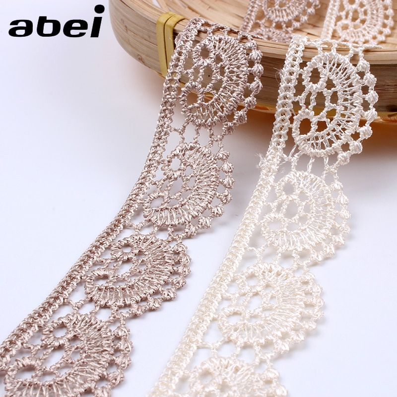 Ribbon Lace Styled Flower Sewing Craft Trimming Colorful Garment Home Decoration