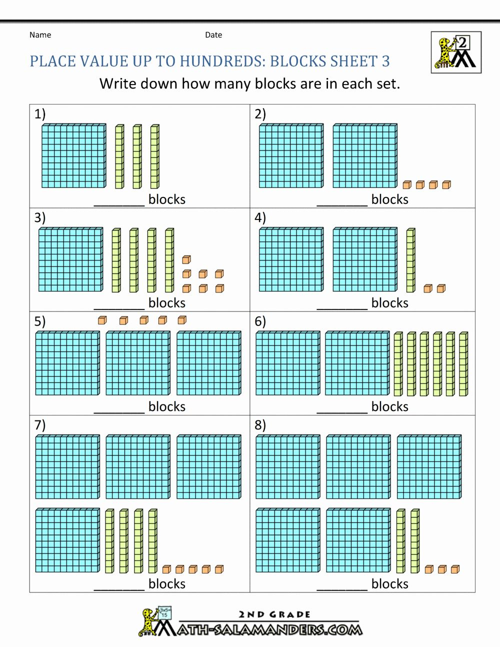Ones Tens Hundreds Worksheet Fresh Place Value Blocks With 3 Digit Number In 2020 Place Value Blocks Place Values Place Value Worksheets