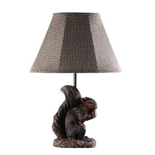 Preparing For Winter Squirrel Lamp | Overstock.com Shopping   Great Deals  On Table Lamps