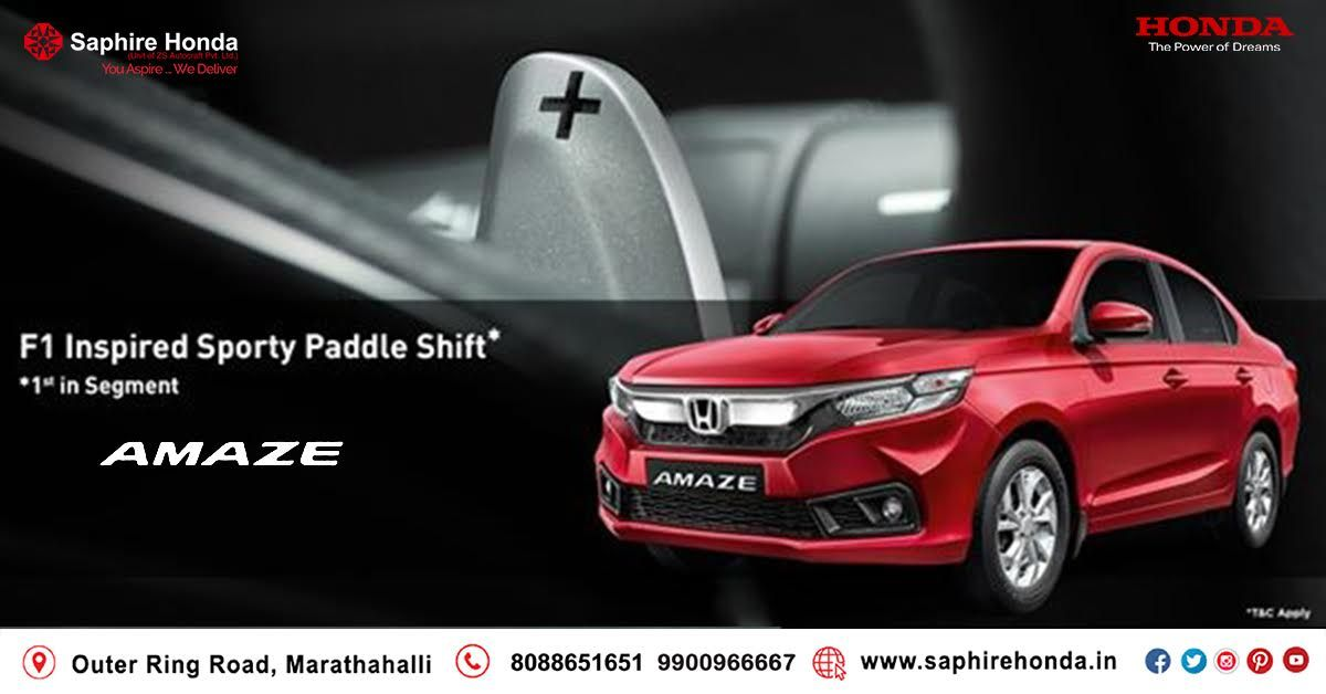 Making smiles bigger with 1 Lakh Happy Honda Amaze owners. Book a test drive today. *T&C Apply  Visit: www.saphirehonda.in or Call: 8088651651 #HondaAmaze #HondaOffer #HondaCars
