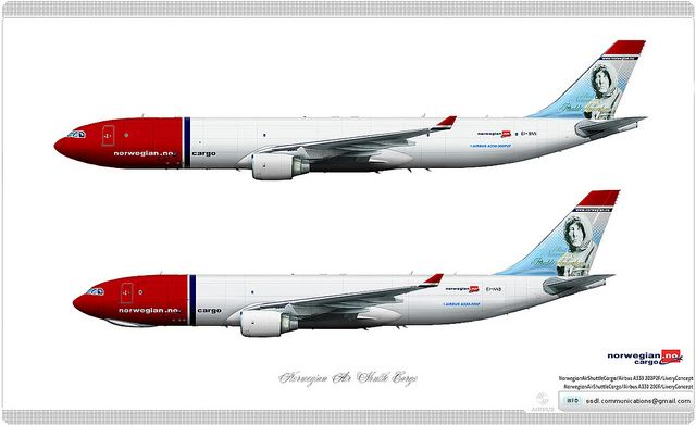 Norwegian Air Shuttle Cargo / Livery concept | Livery