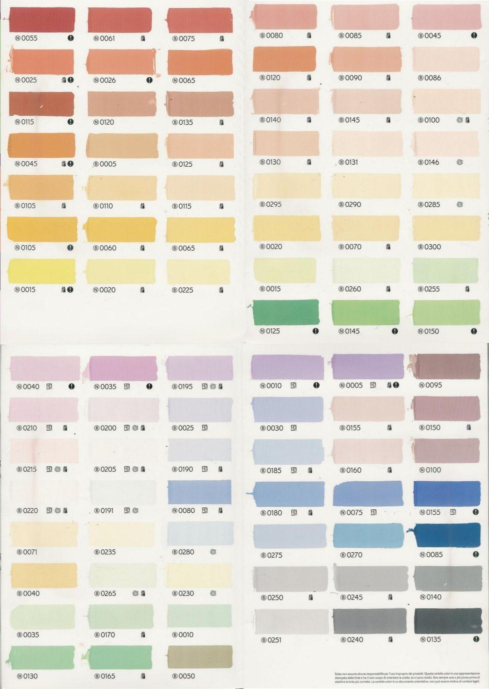 Cartelle colori pareti na95 regardsdefemmes - Tavolozza colori per pareti ...