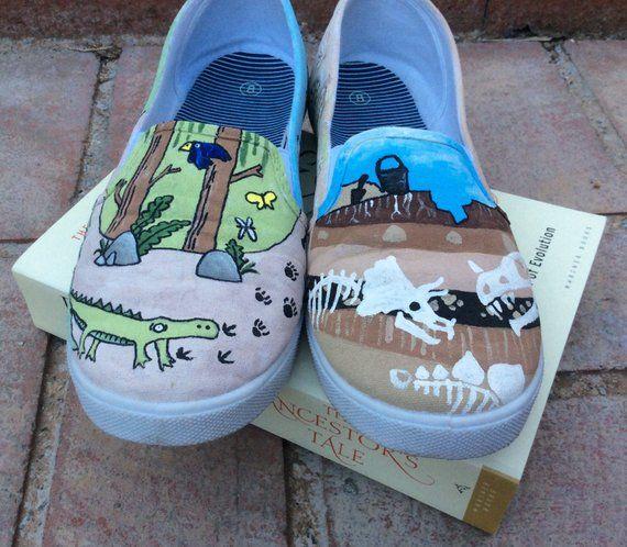 c889ba5dabc03 Darwin Custom Hand-Painted Shoes // Vans or Standard Shoes ...