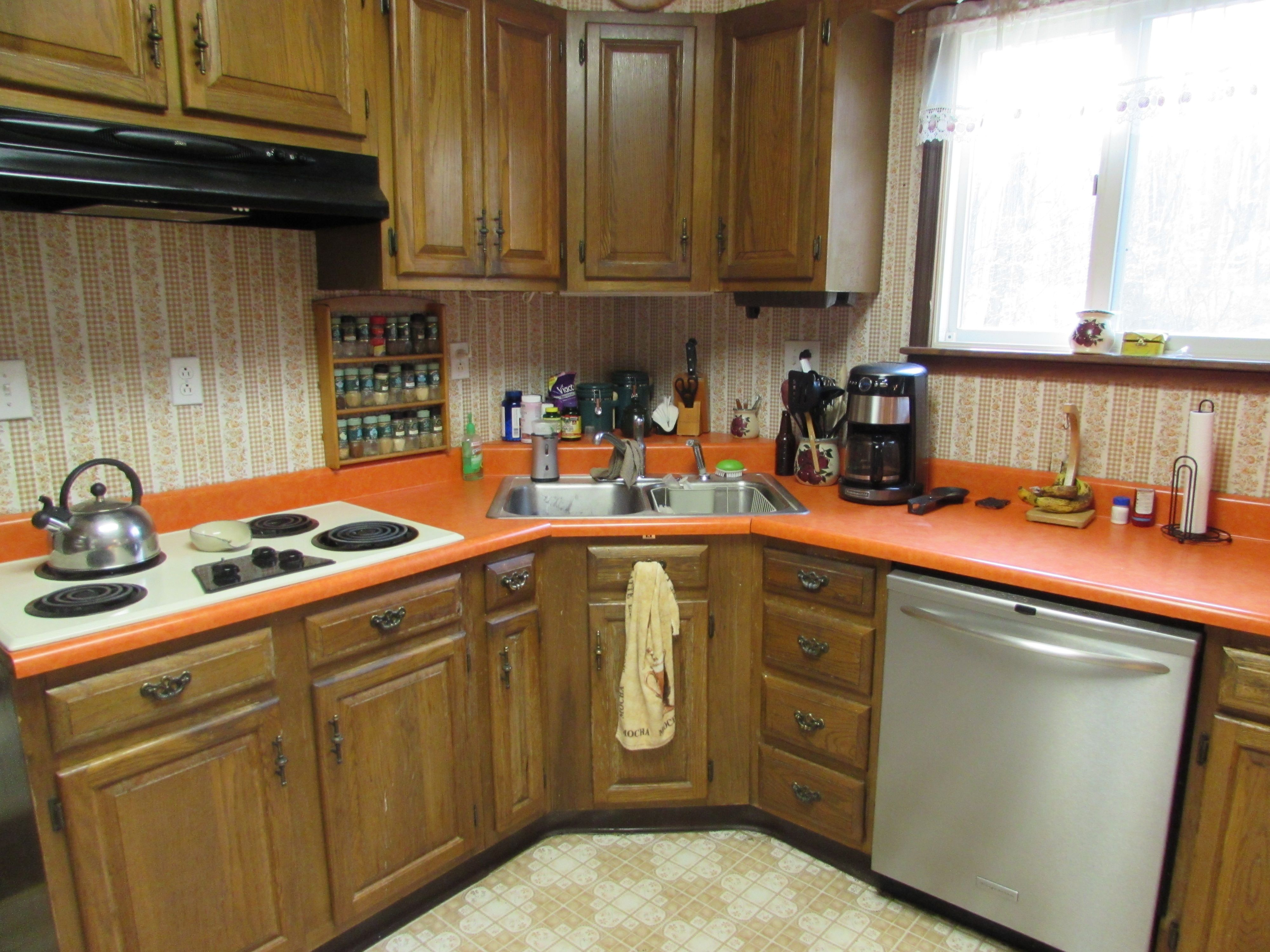 Outdated Early 1980 S Kitchen Living Room Remodel Kitchen Room Remodeling