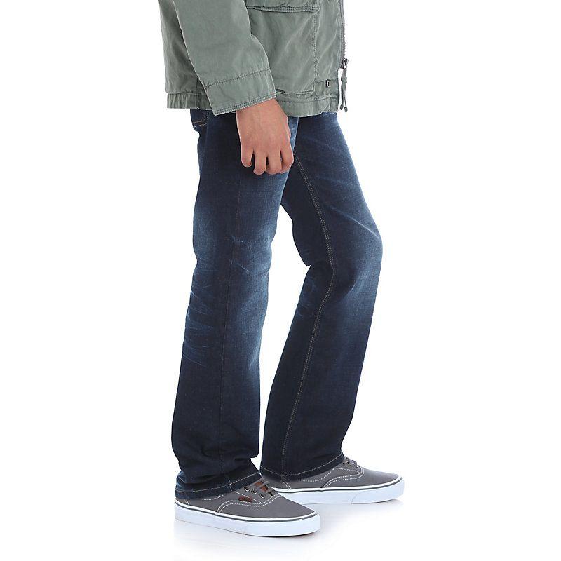 c3746b9e9 Wrangler Boys' Jeans Co. Premium Slim Fit Jean (Husky) Dark Blue ...