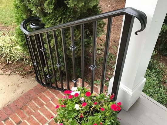 Exterior Residential Custom Wrought Iron Railings In Raleigh Nc Deck Porch Rails Aluminum And