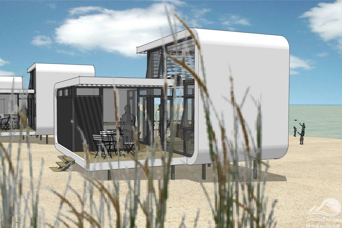 Bijzondere strandhuisjes op het strand van nieuwvliet for Design hotel zeeland