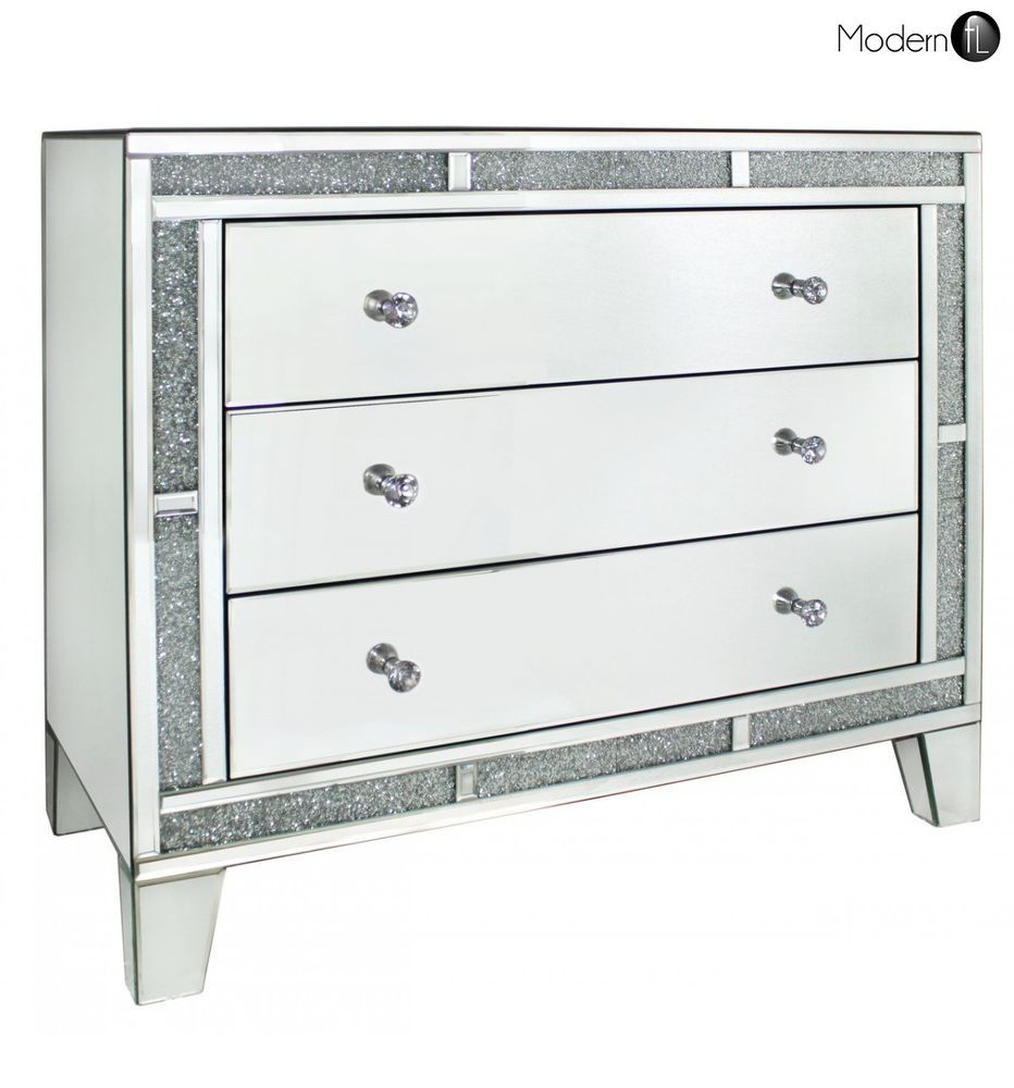 Mirrored Crystal Chest Of Drawers High Quality Bedroom Mirrored Furniture Mirror Furniture