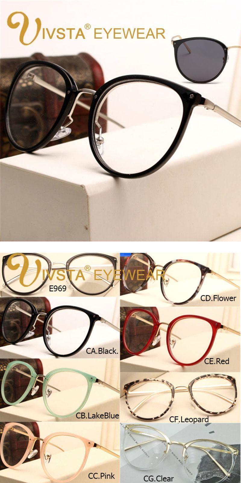 70fa9497c0 Vintage prescription optical eyeglasses frame myopia round metal women  spectacles sunglasses cat eye eyewear pink lenses