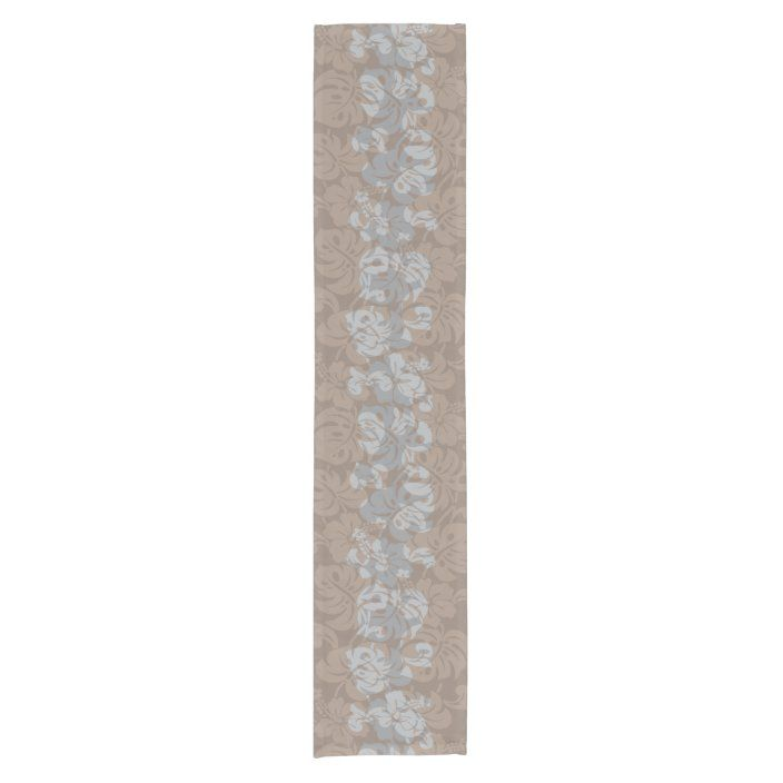 Kalakaua Hawaiian Hibiscus Border KL302 Short Table Runner | Zazzle.com