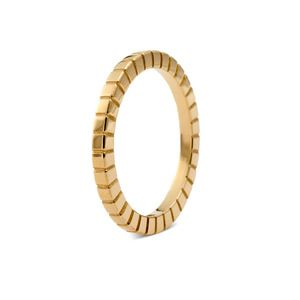 Francesca Grima - Rings - Pixel Band in Yellow Gold