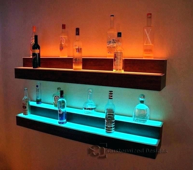 Home Bar Shelves Lighted Home Mini Bar Shelves Bar Shelves Wall Bar Shelf Led Shelf Lighting