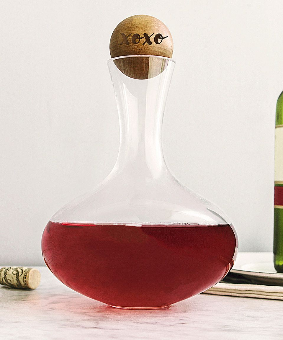 Love This Xoxo Wine Decanter Set By Cathy S Concepts On Zulily Zulilyfinds Wine Decanter Set Glass Wine Decanter Cathy S Concepts