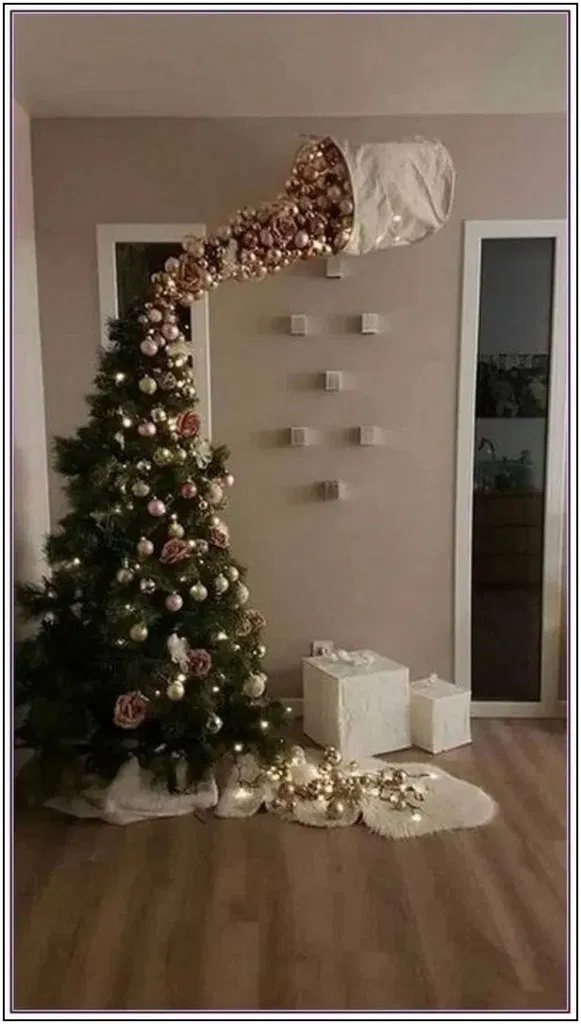 100 Fabulous Christmas Decor Ideas To Perfect Your Home Christmas Is Not So Fa Funny Christmas Tree Alternative Christmas Tree Christmas Tree Ornaments