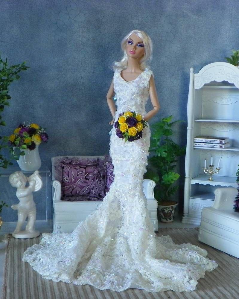 Barbie,Tonner Fashion Royalty, Poppy Parker wedding Bouquet, Flowers ...