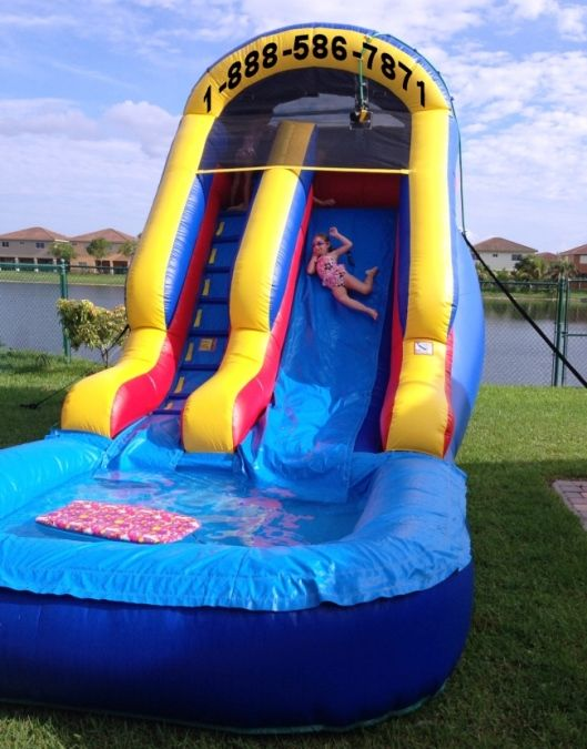 My Florida Party Rental Bounce House Water Slide Tent Miami Broward Water Slide Rentals Water Slides Bounce House