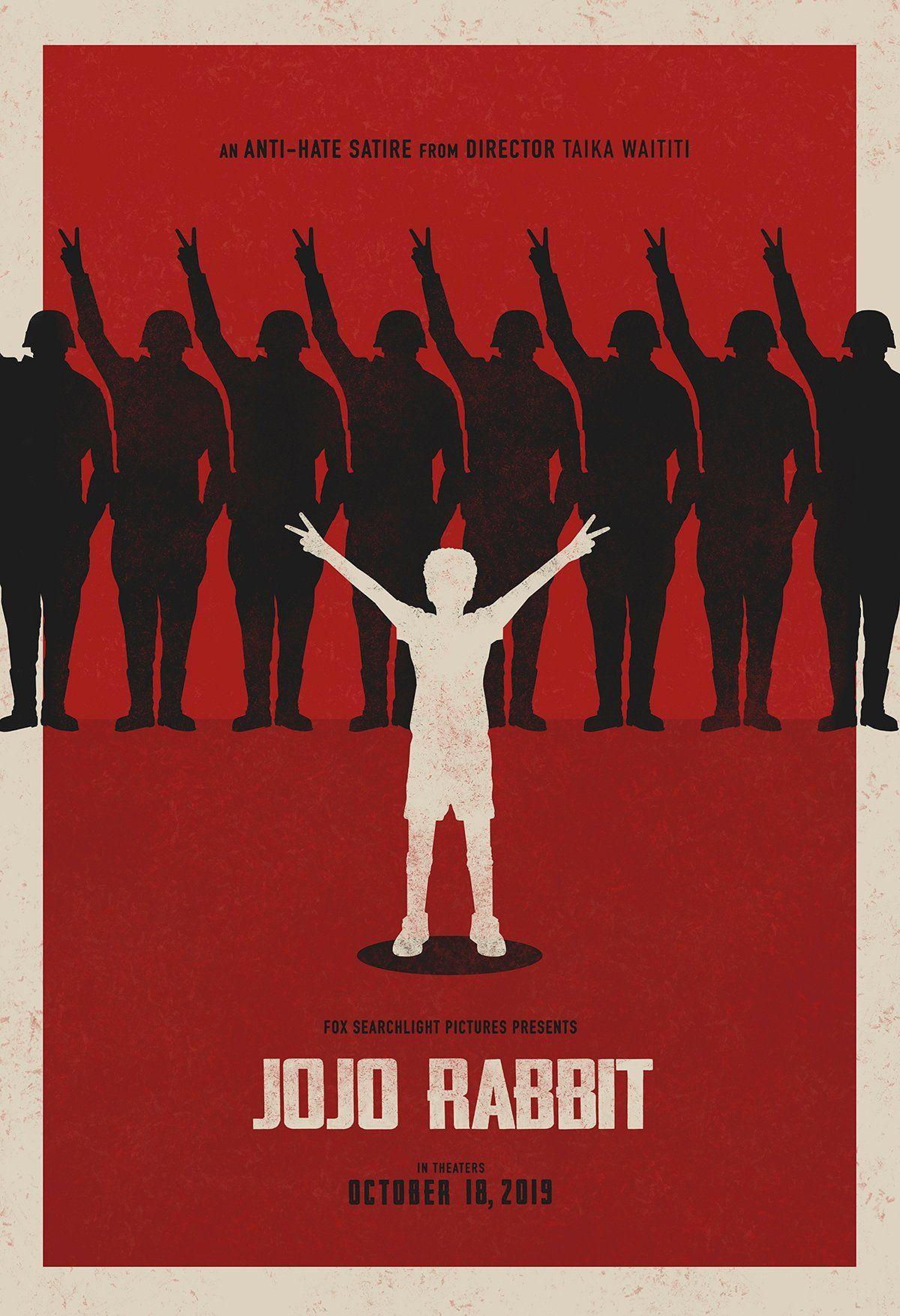 Jojo Rabbit Rosie and Jojo Movie Poster Landscape Minimalist Design