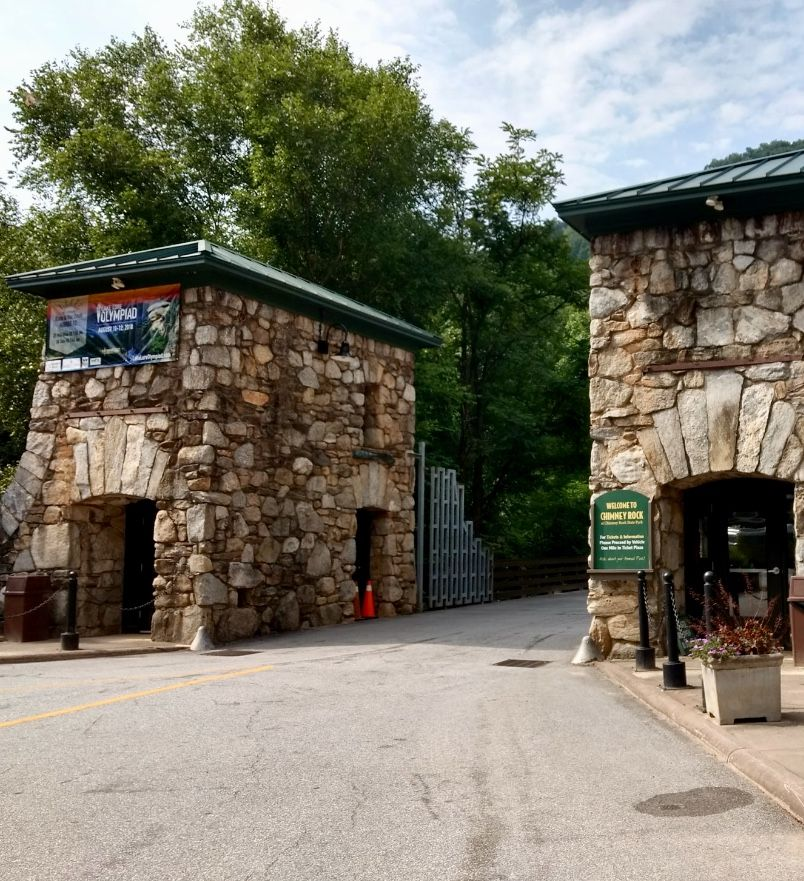 Entrance To Chimney Rock State Park, Chimney Rock, North